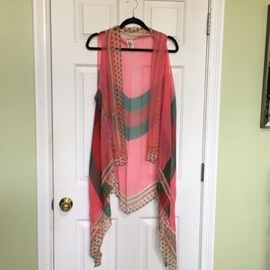 Other - Multi color open tunic top